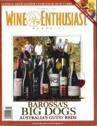 Wine Enthusiast Magazine Barossa Big Dogs - Torbreck