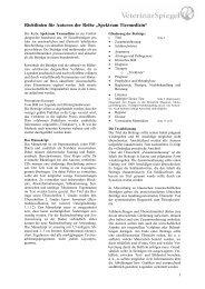 """Richtlinien für Autoren der Reihe """"Spektrum Tiermedizin"""""""