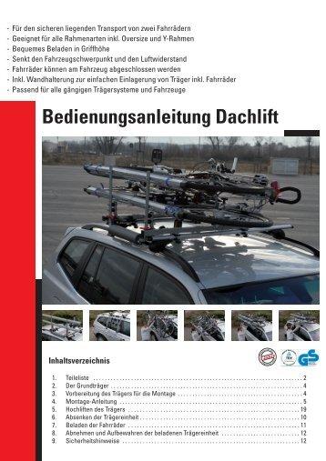Bedienungsanleitung Dachlift - Rameder