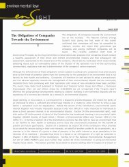 The Obligations of Companies Towards the Environment - ENS