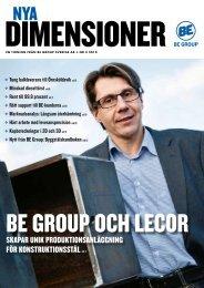 Nya Dimensioner - BE Group