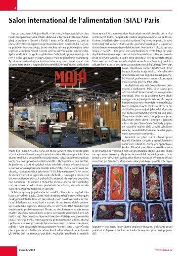 Časopis MASO napsal o veletrhu - franc veletrhy