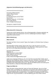 AGB und Information als PDF anzeigen! - aromashop-wg.de