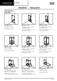 Drehtüren - Swing doors - DORMA Interior Glas
