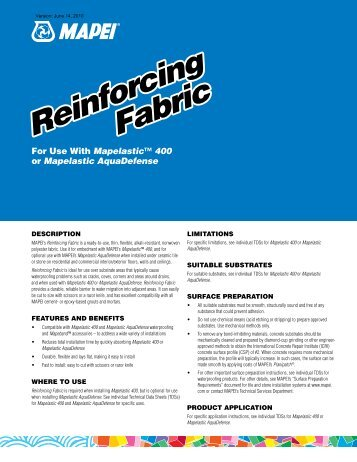 Reinforcing Fabric Reinforcing Fabric - Northland Construction ...