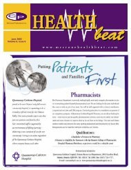 June 2003 Volume 6, Issue 6 - McCrone Healthbeat