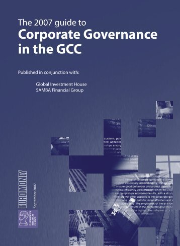 Corporate Governance in the GCC - Euromoney