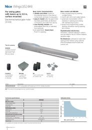 Wingo 3524 Data Sheet - Gate Motors