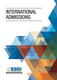 International admissions guide - ESDi
