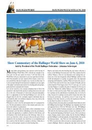 Show Commentary of the Haflinger World Show on ... - Haflinger Tirol