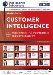 CUSTOMER INTELLIGENCE - Blue Business Media