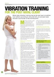 Vibration training for the post natal client - Fitness Professionals