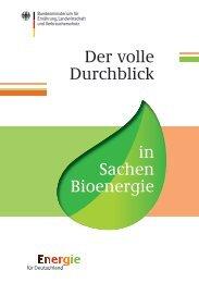 Der volle Durchblick in Sachen Bioenergie - BMELV