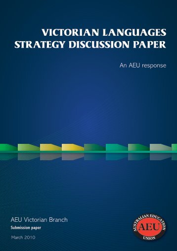 Victorian languages strategy submission - Australian Education ...