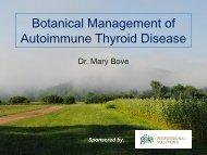Botanical Management of Autoimmune Thyroid Disease - Integrative ...