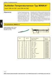 Kaltleiter-Temperatursensor Typ MINIKA® - drive-electric.hu