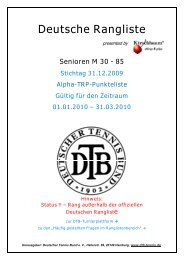 Deutsche Rangliste - TC Rot-Weiß Barsinghausen
