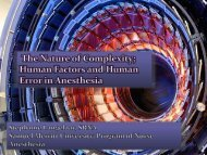 Human Factors and Human Error in Anesthesia; the Nature of ...