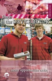 Jobs in Service Sector - Education, Culture and Employment ...