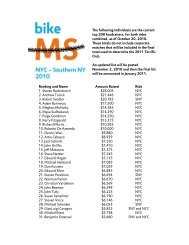 Ranking and Name Amount Raised Ride 1. Steven ... - Bike MS