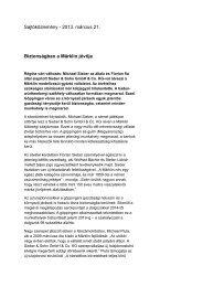 Sajtóközlemény - 2013. március 21. Biztonságban a ... - 3Rotaie.it