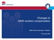 Changes to NSW workers compensation - NSW Farmers Association