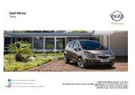 Télécharger les tarifs et la fiche technique - Opel