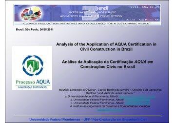 Universidade Federal Fluminense – UFF / Pós-Graduação em ...