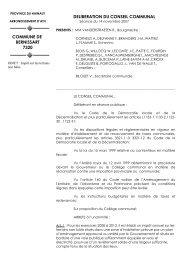 Impôt sur les terrains non bâtis - Bernissart