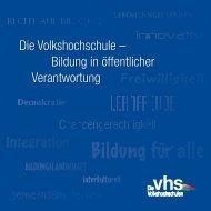Volkshochschule – Bildung in öffentlicher Verantwortung