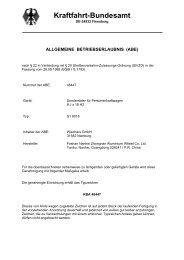 Kraftfahrt-Bundesamt - bei Wiechers-Sport!