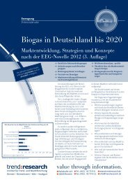 Biogas in Deutschland bis 2020 - trend:research