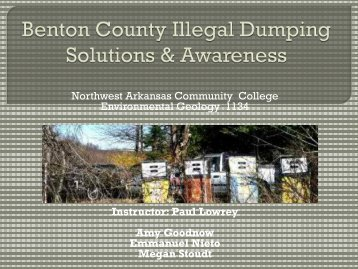 Final Presentation - Faculty Web Pages - Northwest Arkansas ...