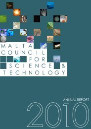ANNUAL REPORT - The Malta Council for Science & Technology