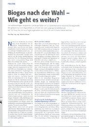 BiogasnachderWahl Wiegehtesweiter? - Fachverband Biogas e.V.