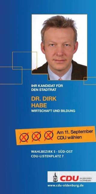 Kandidatenkarte zum Download - CDU-Kreisverband Oldenburg-Stadt
