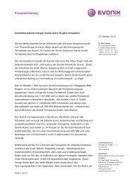 Umweltfreundliche Energie: Evonik feiert 50 Jahre ... - STEAG