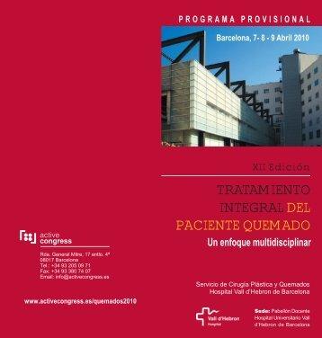 TRATAMIENTO INTEGRALDEL PACIENTE QUEMADO
