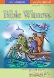 Evangelism - Bible Witness