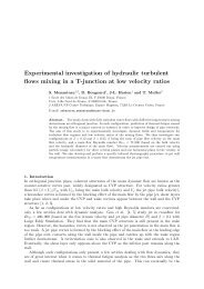 Experimental investigation of hydraulic turbulent flows mixing in a T ...