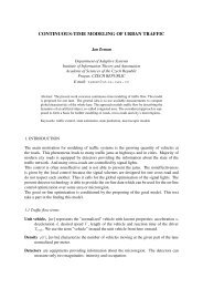 Continuous-time modeling of urban traffic - Department of Adaptive ...