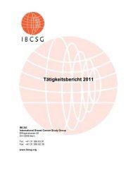 INTERNATIONAL BREAST CANCER STUDY GROUP - IBCSG