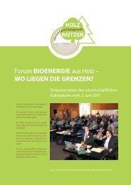 Dokumentation_Forum Ligna 2011 - Holz verantwortungsvoll nutzen