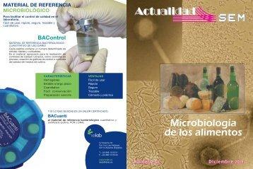 Microbiología de los alimentos - Sociedad Española de Microbiología