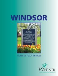 Guide To Town Services. - Town of Windsor