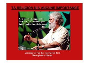 TA RELIGION N'A AUCUNE IMPORTANCE - Le Pouvoir Mondial