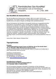 Nr. 3, November 2000 - AK Geographie und Geschlecht
