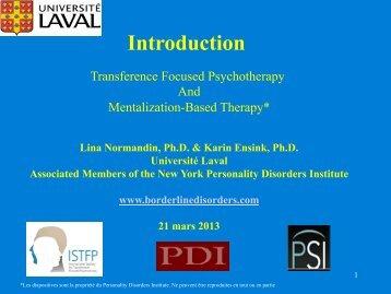 Introduction - Institut universitaire en santé mentale Douglas