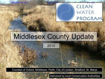 Jan 25 - Clean Water Program - Middlesex update 2010 - County of ...