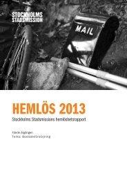 Hemlös 2013 - Stockholms Stadsmission